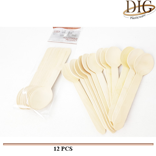 WSP057 WOOD SPOON 12 STICKS