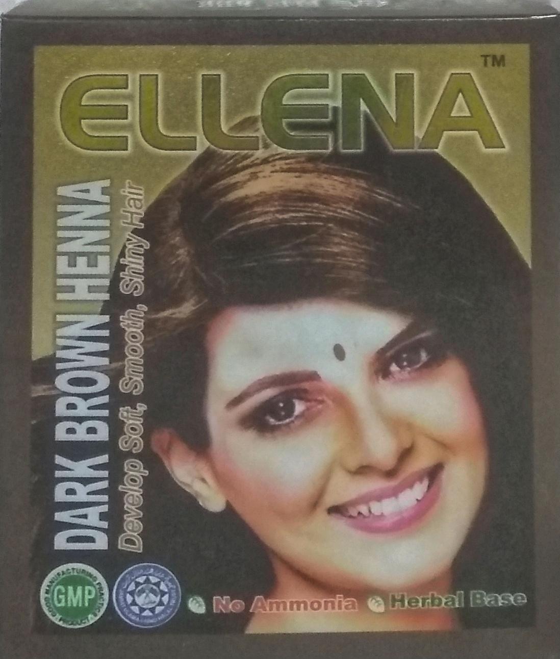 EH-DBR Ellena Henna(Dark Brown) 6Pkt/Box