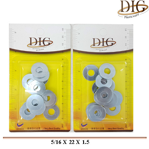 FW5/16 FLAT WASHER OD BIG 15 PCS