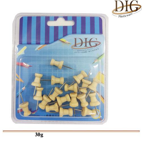 B1022 Wooden Push Pin 7G