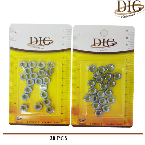 NT6 6MM NUT 20PCS