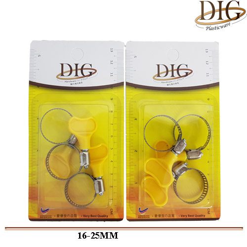 JN#HCPB1625 3 PCS WATER PIPE CLAMP BUCKLE W/SNAO RING
